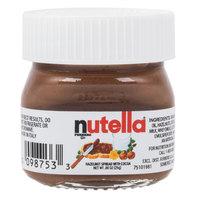 Nutella Hazelnut Spread .88 oz Mini Glass Jar   - 64/Case