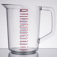 Rubbermaid 3217 Bouncer 2 Quart Polycarbonate Plastic Measuring Cup