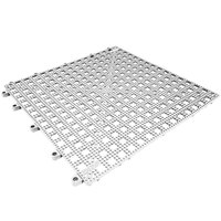 Cactus Mat 2554-WC Dri-Dek 2 inch x 2 inch White Vinyl Interlocking Drainage Floor Tile Corner Piece - 9/16 inch Thick