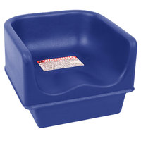 Cambro 100BC186 Navy Blue Single Height Plastic Booster Seat
