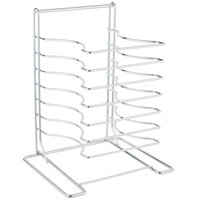 American Metalcraft 19107 7 Slot Wall Mounted Pizza Pan Rack