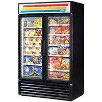 True GDM-43F~TSL01 Black Glass Swing Door Merchandiser Freezer with LED Lighting - 40.6 Cu. Ft.