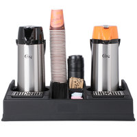 Choice 9-Piece 2.2 Liter Glass Lined Lever Airpot, Paper Hot Cup, and Condiment Coffee Set