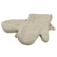 Choice 13 inch Terry Oven Mitts - Pair