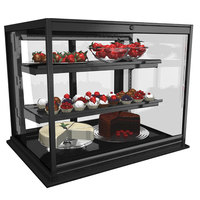 Structural Concepts DGS4830R Impulse 50 1/8 inch Black Drop In Refrigerated Bakery Display Case