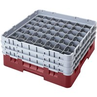 Cambro 49S958163 Red Camrack 49 Compartment 10 1/8 inch Glass Rack