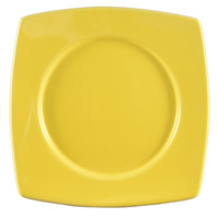 CAC R-SQ8YW Clinton Color 8 7/8 inch Yellow Round in Square Plate - 24/Case