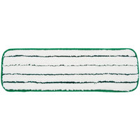 3M 59027 18 inch Green Easy Scrub Flat Mop Pad   - 10/Pack