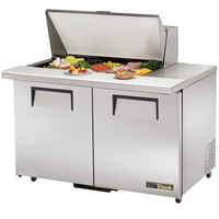 True TSSU-48-15M-B-ADA-HC 48 inch Mega Top Two Door ADA Height Sandwich / Salad Prep Refrigerator