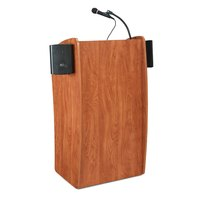 Oklahoma Sound 611SCH Wild Cherry Finish Vision Lectern with Sound