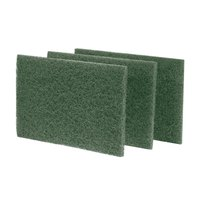 Scrubble by ACS S86 9 inch x 6 inch Heavy-Duty Green Scouring Pad - 10/Pack
