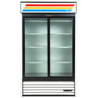 True GDM-45-LD-HC 51 inch White Refrigerated Sliding Glass Door Merchandiser with LED Lighting
