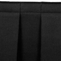 National Public Seating SB8-48 Black Box Stage Skirt for 8 inch Stage - 36 inch Long