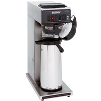 Bunn 23001.0003 CWT15-APS Airpot Brewer with Black Plastic Funnel and No Hot Water Faucet - 120V