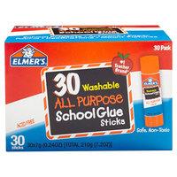 Elmer's EPIE556 0.24 oz. Clear School Glue Stick - 30/Box