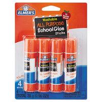 Elmer's EPIE542 0.24 oz. Clear School Glue Stick - 4/Box