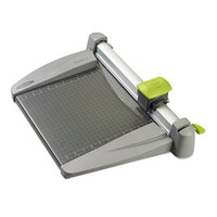 Swingline SWI9612 SmartCut 12 inch x 22 inch 30 Sheet Commercial Heavy-Duty Rotary Paper Trimmer with Metal Base