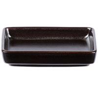 Tuxton GZL-750 TuxTrendz 1.75 oz. Lava China Sauce Dish - 24/Case