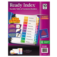 Avery AVE11135 Ready Index 10-Tab Multi-Color Table of Contents Dividers