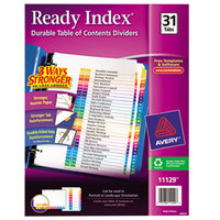 Avery AVE11129 Ready Index Day-of-the-Month Multi-Color Table of Contents Dividers