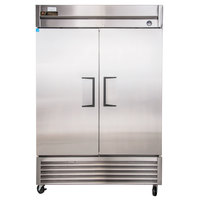 True TS-49 55 inch Stainless Steel Two Section Solid Door Reach in Refrigerator - 43.5 Cu. Ft.