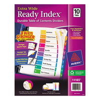 Avery AVE11165 Ready Index Extra Wide 10-Tab Multi-Color Table of Contents Dividers