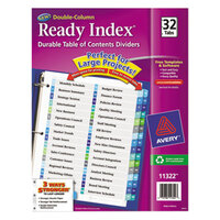 Avery AVE11322 Ready Index 32-Tab Double-Column Multi-Color Table of Contents Dividers