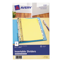 Avery AVE11102 Mini WorkSaver 5-Tab Clear Insertable Tab Dividers