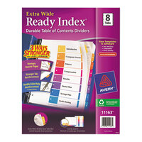 Avery AVE11163 Ready Index Extra Wide 8-Tab Multi-Color Table of Contents Dividers