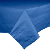 Hoffmaster 220622 54 inch x 108 inch Cellutex Navy Blue Tissue / Poly Paper Table Cover - 25 / Case