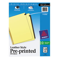 Avery AVE11352 Pre-Printed Black Leather 31-Tab Dividers