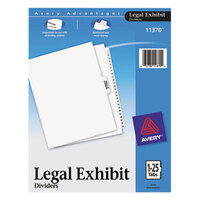 Avery AVE11370 Premium Collated 1-25 Tab Table of Contents Legal Exhibit Dividers