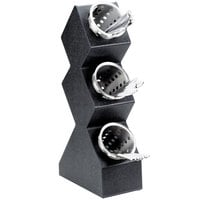 Cal-Mil 1016-3 Black Three Compartment Vertical Display