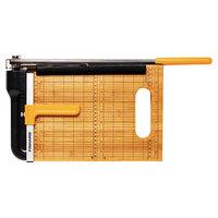 Fiskars FSK01005744 Bypass Bamboo 23 5/16 inch x 10 15/16 inch 15 Sheet Guillotine Paper Trimmer