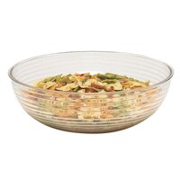Cambro RSB15CW135 11.2 Qt. Clear Camwear Round Ribbed Bowl