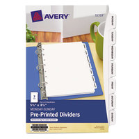 Avery AVE11319 Mini Pre-Printed 7-Tab Monday-Sunday Dividers