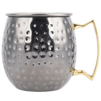 American Metalcraft BM16H 16 oz. Black Moscow Mule Mug with Hammered Finish