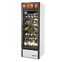 True GDM-23W-HC~TSL01 White Glass Door Refrigerated Wine Merchandiser - 23 cu. ft.