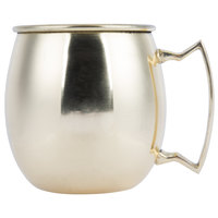 American Metalcraft GM16P 16 oz. Gold Moscow Mule Mug with Mirror Finish