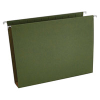 Universal UNV14142 11 inch x 8 1/2 inch Standard Green Hanging Tabless File Folder with 2 inch Box Bottom, Letter - 25/Box