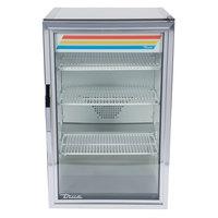 True GDM-7-S-HC~TSL01 Stainless Steel Countertop Display Refrigerator with Swing Door - 7 cu. ft.