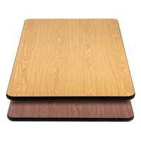 Lancaster Table & Seating 30 inch x 48 inch Laminated Rectangular Table Top Reversible Walnut / Oak