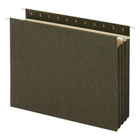 Universal UNV14160 11 inch x 8 1/2 inch Standard Green Hanging Tabless File Folder with Pockets and 3 1/2 inch Box Bottom, Letter - 10/Box