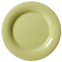 GET WP-6-AV Avocado Diamond Harvest 6 1/2 inch Wide Rim Plate - 48/Case