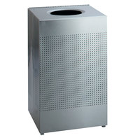 Rubbermaid SC22 Silhouettes Stainless Steel Designer Waste Receptacle - 50 Gallon (FGSC22SSRB)