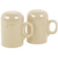 Homer Laughlin 756330 Fiesta Ivory Rangetop Salt and Pepper Shaker Set - 4/Case