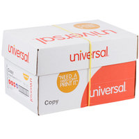 Universal Office UNV28230 8 1/2 inch x 11 inch White 3-Hole Punched 20# Copy Paper - 10/Case