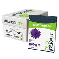 Universal Office UNV95230 8 1/2 inch x 11 inch Bright White 20# Multipurpose Paper - 10/Case
