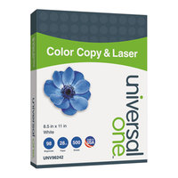 Universal Office UNV96242 8 1/2 inch x 11 inch White 28# Copier and Laser Paper