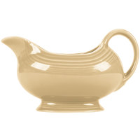 Homer Laughlin 486330 Fiesta Ivory 18.5 oz. Sauce Boat - 4/Case